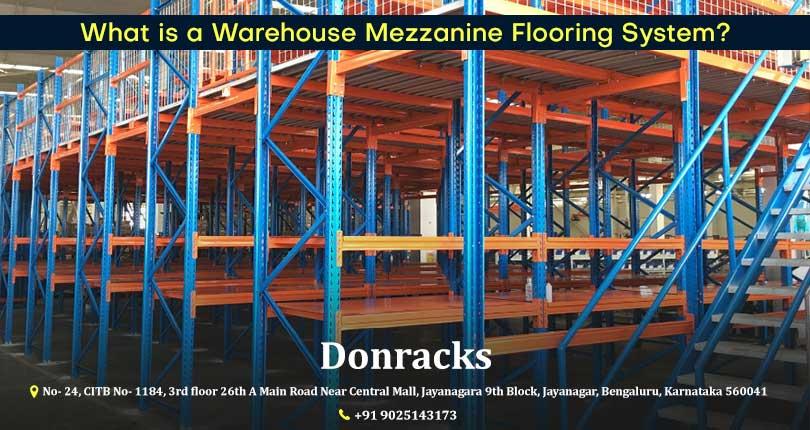Interior of warehouse with mezzanine floors