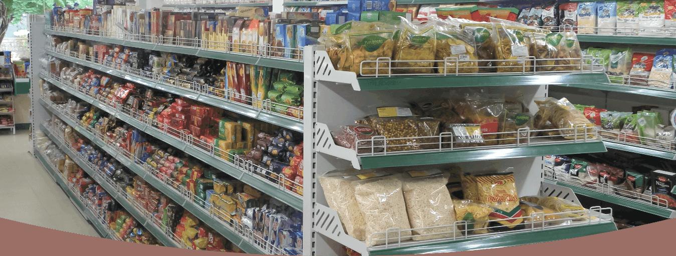 Product Display in Supermarket Racks