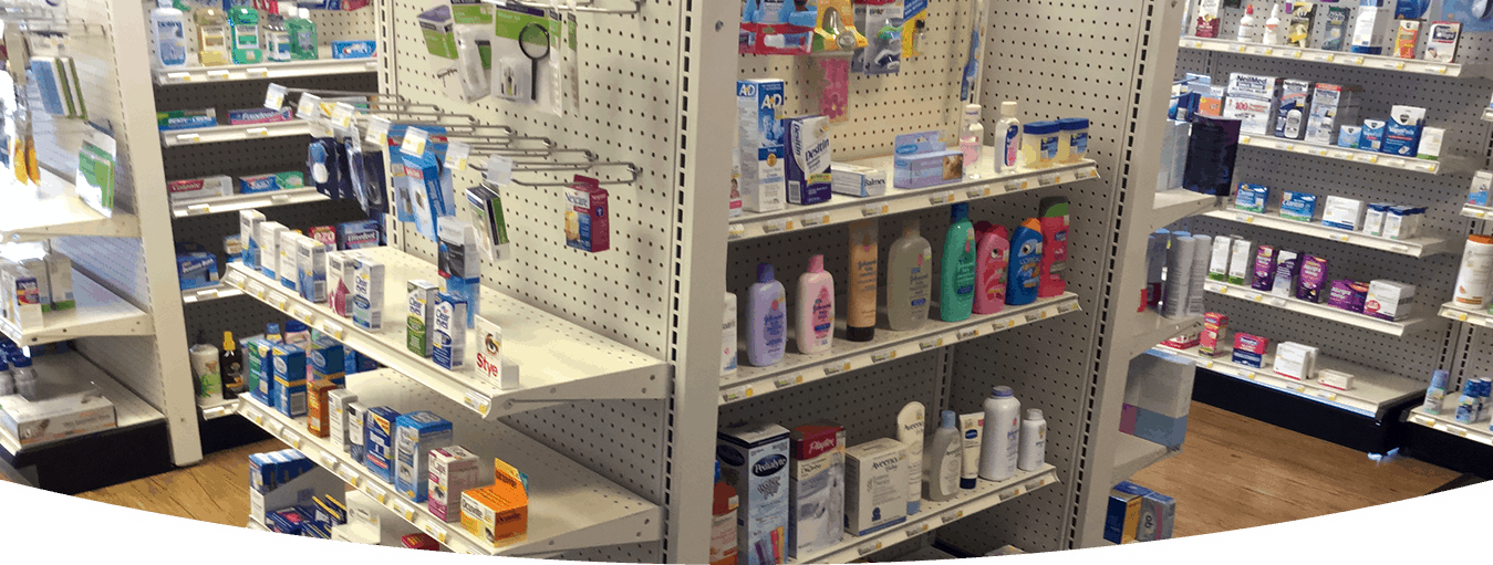 PHARMACY SLAT WALL RACKS