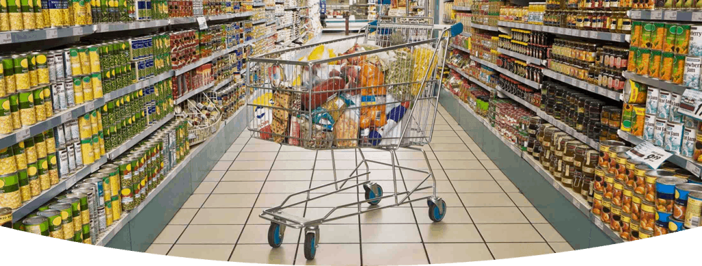 Supermarket Shopping Baskets at Supermarket