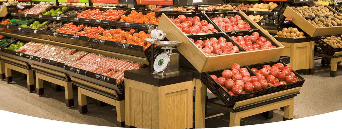 SUPERMARKET FRUIT VEGETABLE STORAGE DISPLAY RACKS