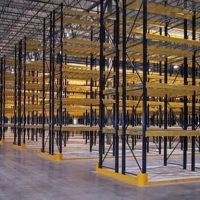 warehouse shelving storage with pallet racking